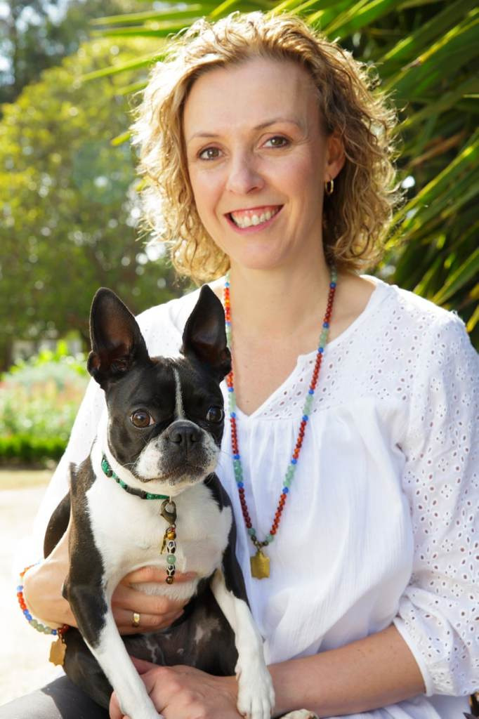 Michelle Monk founder of Canine Health & Wellbeing Academy with Zoe